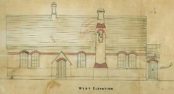 The west elevation of Blunham School [AD3865/8]
